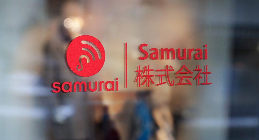 Thiết kế logo ngành công nghệ viễn thông Samurai