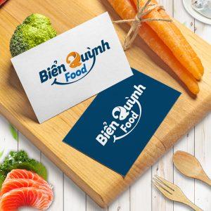 Thiet ke logo thuong hieu hai san Bien Quynh Food